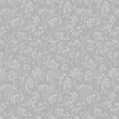 Carey Blackout Silver, Floral Roller Blinds UK