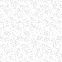 Carey Blackout White, Floral Roller Blinds UK