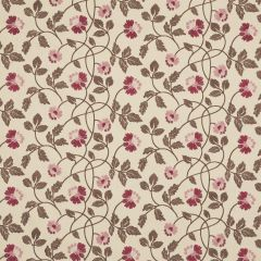 Red Floral Patterned Roman Blind, Salinas